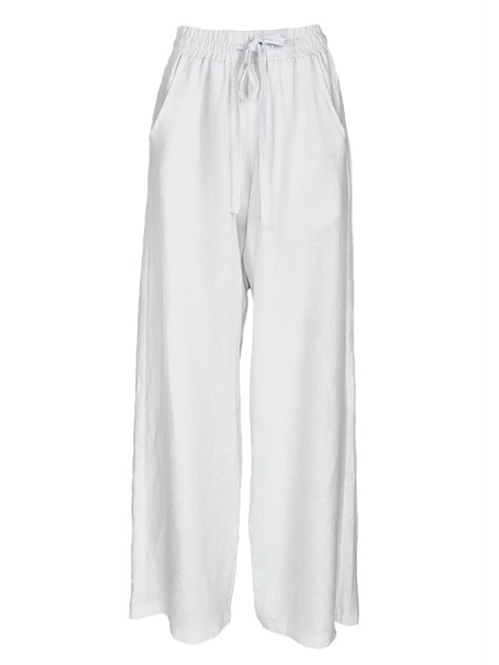 White linen track pants with drawstring South Africa