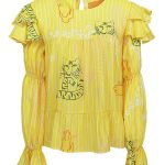loose fitting yellow top with frills South Africa