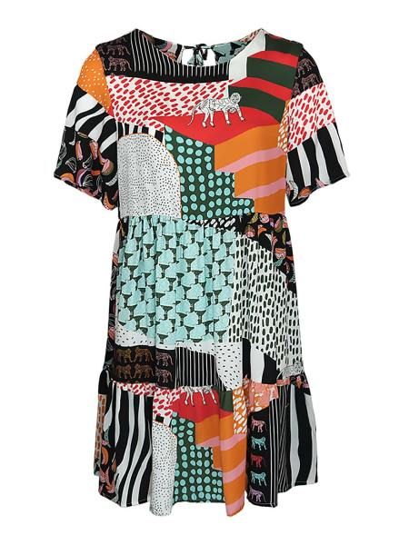 Colourful knee length dress South Africa