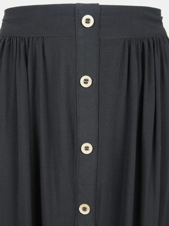Good Button HW Skirt Black Closeup