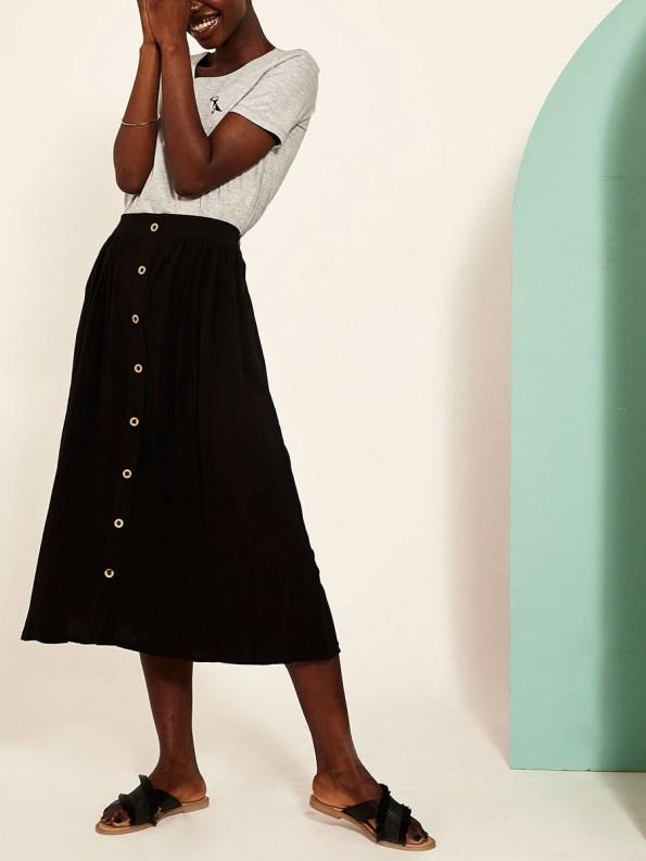 Good Button HW Skirt Black Side