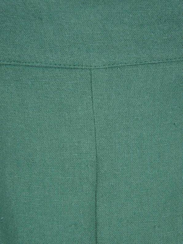 Good Gardening Shorts Green Linen Fabric
