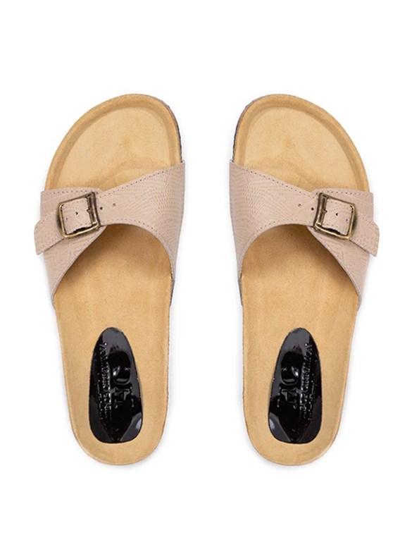 House of Cinnamon Glenda Leather Sandal Single Beige Pair