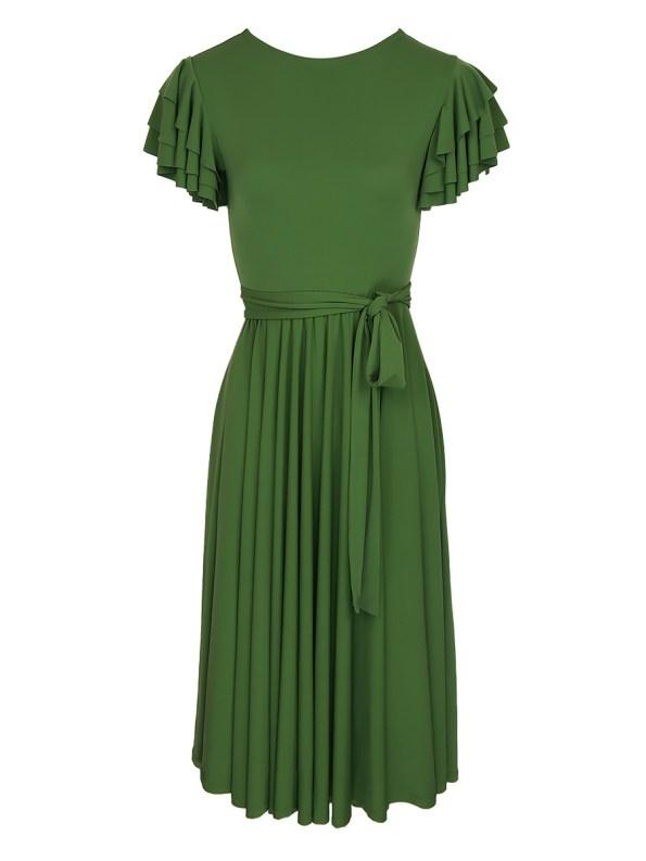 Erre Flutter Dress Light Green