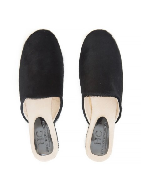 black cow's hair mules South Africa