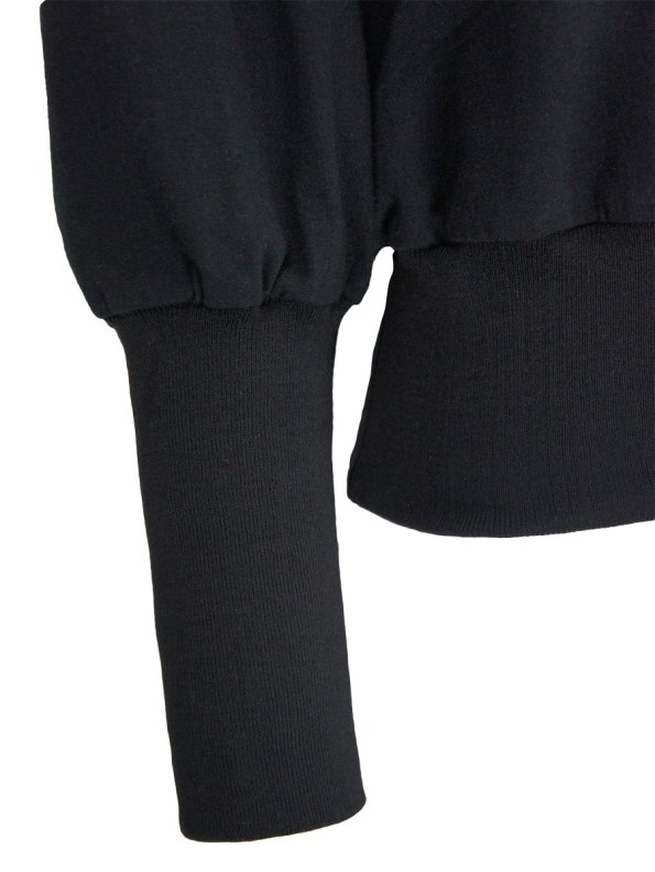 JMVB Athleisure Puff Sleeve Sweater Black Detail