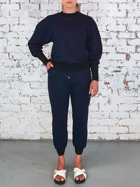 Navy Puff Sleeve Tracksuit for Women South Africa