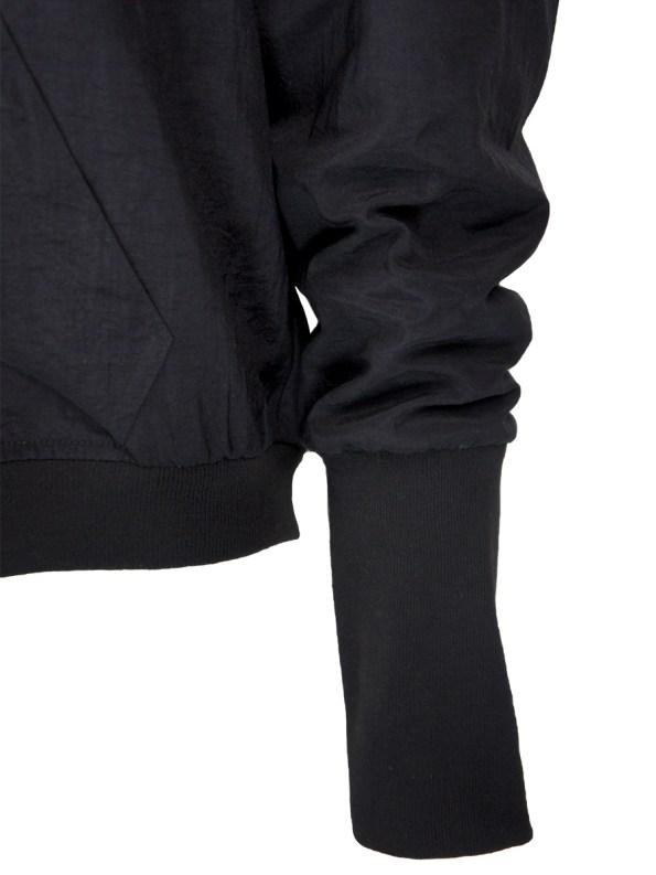 JMVB Taslon Bomber Jacket Black Sleeve