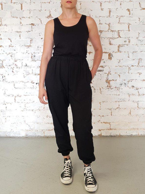 JMVB Taslon Sweatpants Black With Vest
