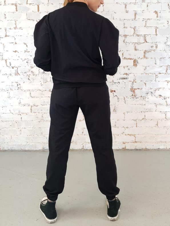 JMVB Zip Up Taslon Tracksuit Black Back
