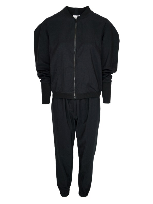 JMVB Zip Up Taslon Tracksuit Black