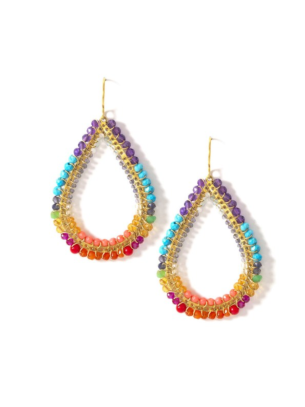 Multicoloured teardrop earrings South Africa
