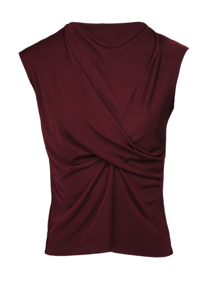 burgundy sleeveless top South Africa