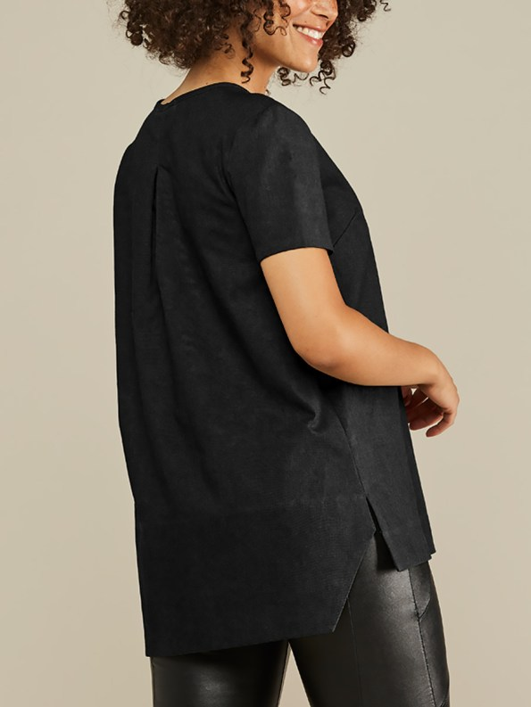Mareth Colleen May Top Black Linen Back