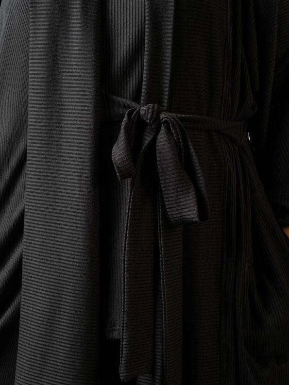 IDV Knit Bow Cardigan Black Detail