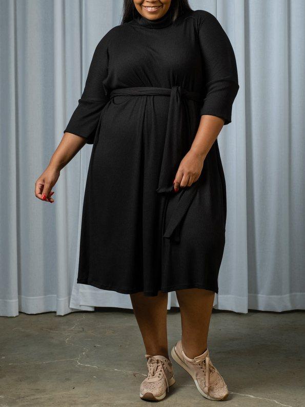 IDV Knit Polo Dress Black 1