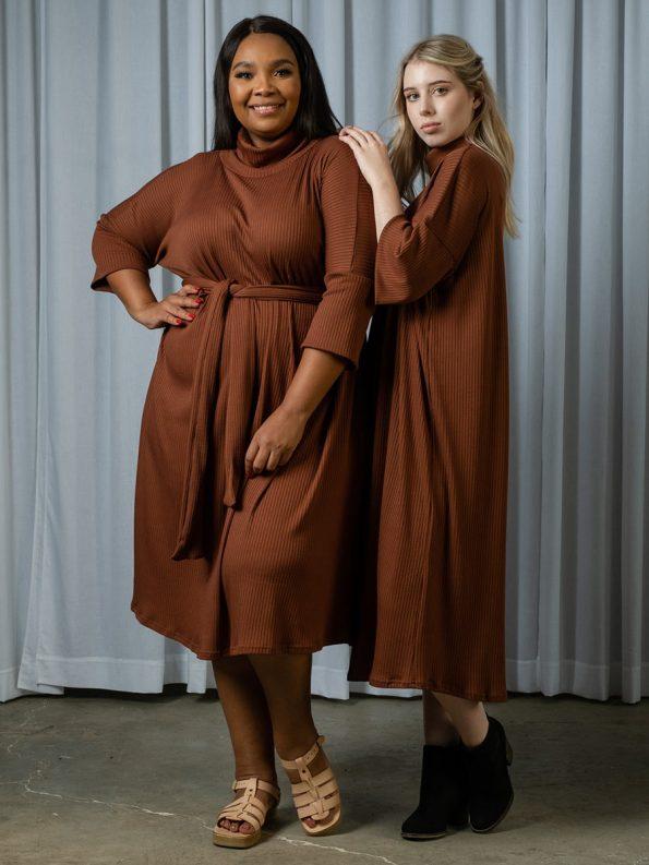 IDV Knit Polo Dress Copper