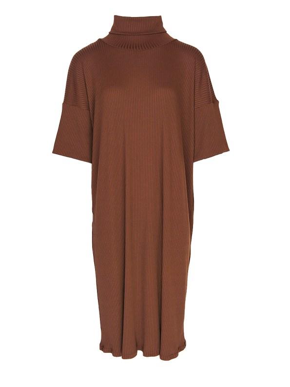IDV Polo Knit Dress Copper (no belt)