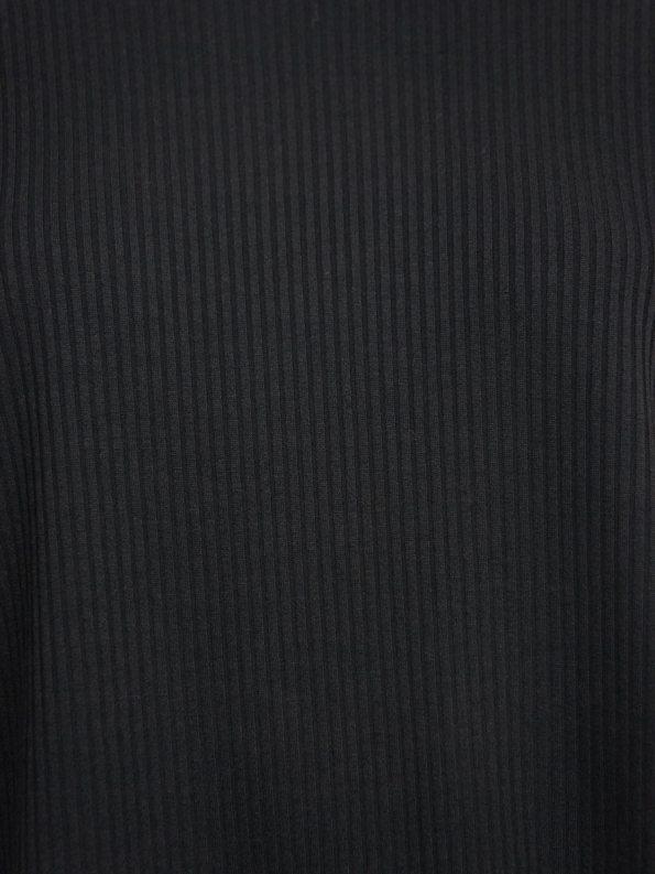 IDV Ribbed Black Fabric