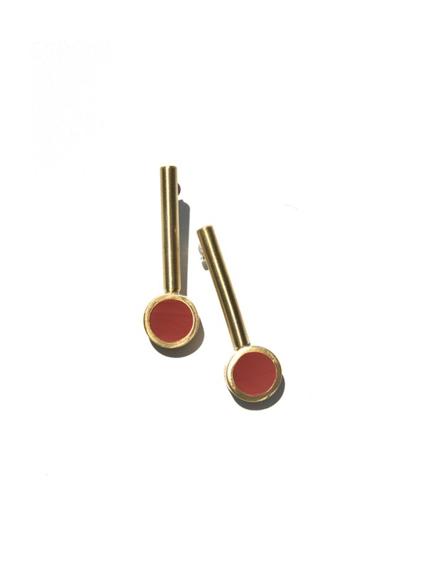 Iloni Drop Earrings Red