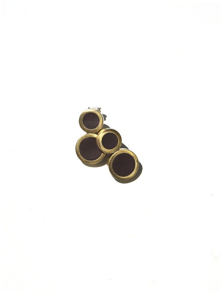 brass and black rubber earrings South Africa
