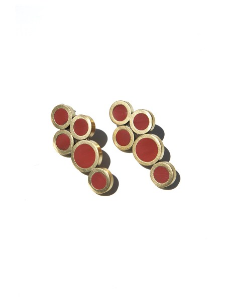 earring with brass circles for women South Africa