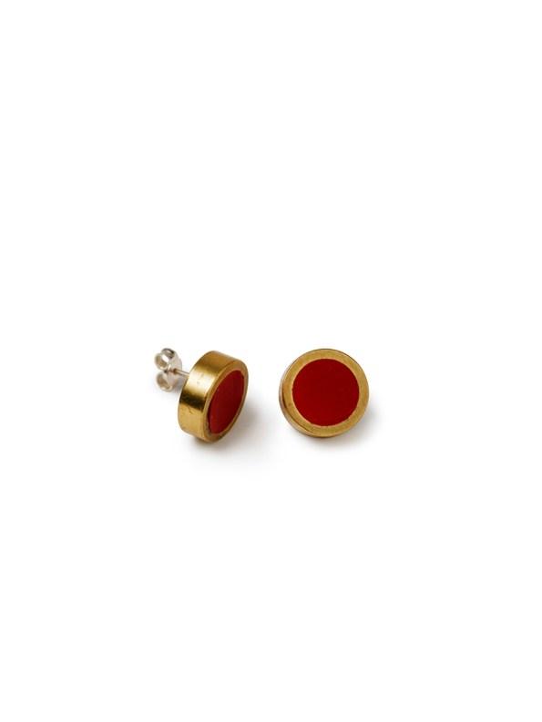 Iloni Stud Earrings Red
