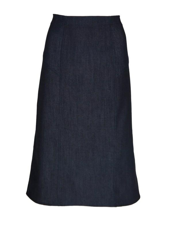 JMVB Denim Pencil Skirt Indigo