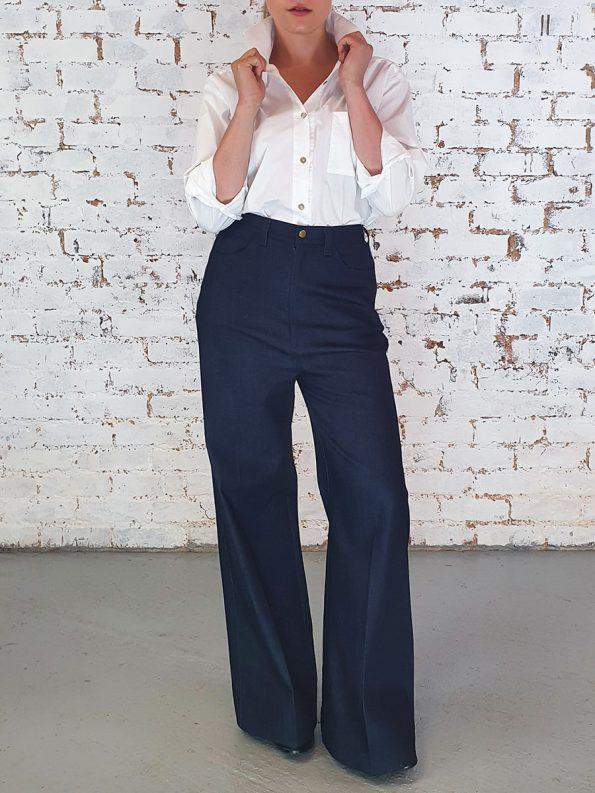 JMVB High Waisted Wide Leg Jeans Front
