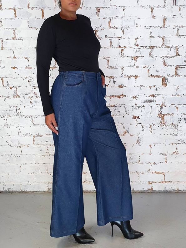 JMVB High Waisted Wide Leg Jeans Original Side