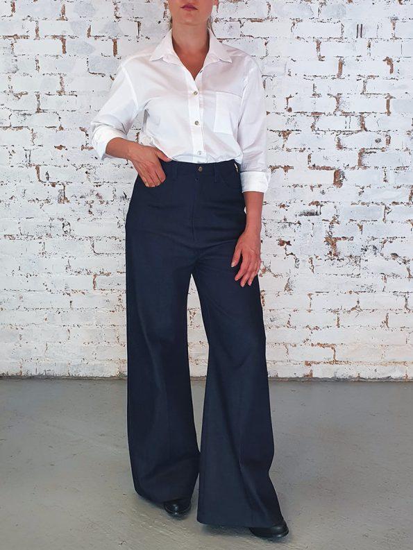 JMVB High Waisted Wide Leg Jeans Side