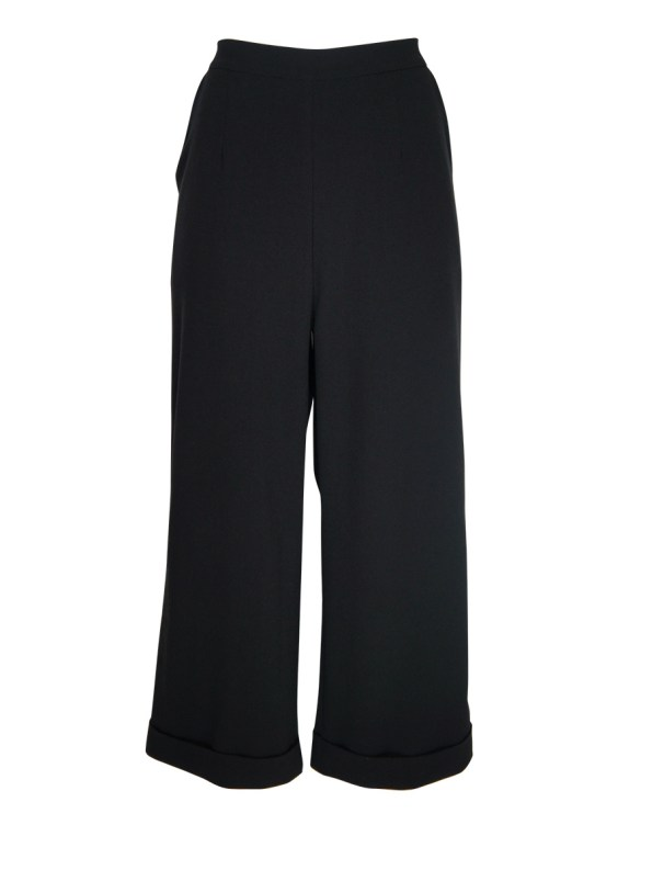 JMVB Straight Leg Cropped Pants Black_