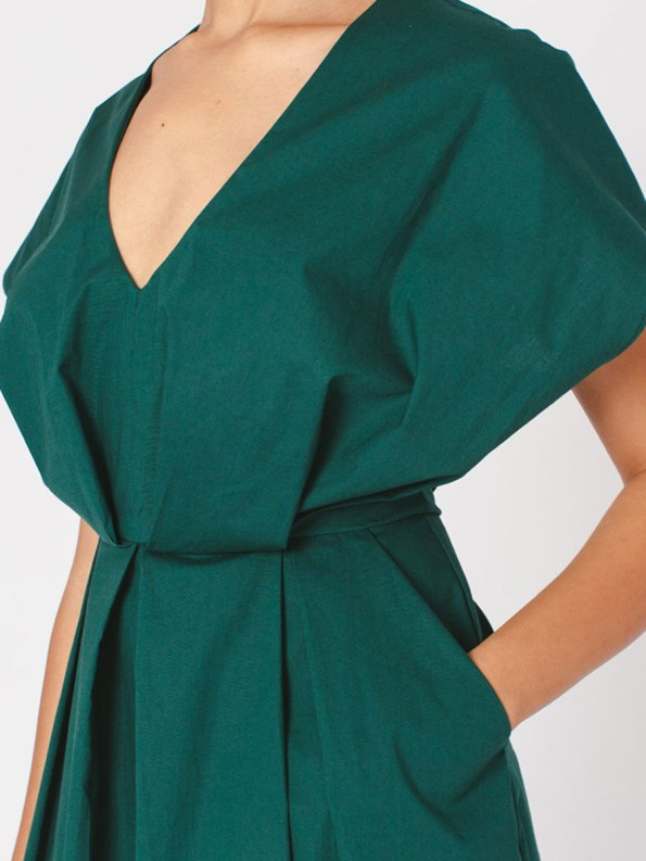 Mareth Colleen Hazel Dress Green Cropped