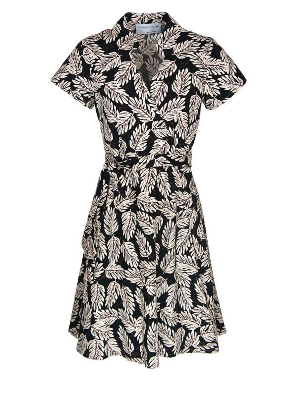 Mareth Colleen Henry Dress Leaf Print