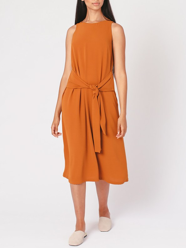 Mareth Colleen Mia Dress Clay Front