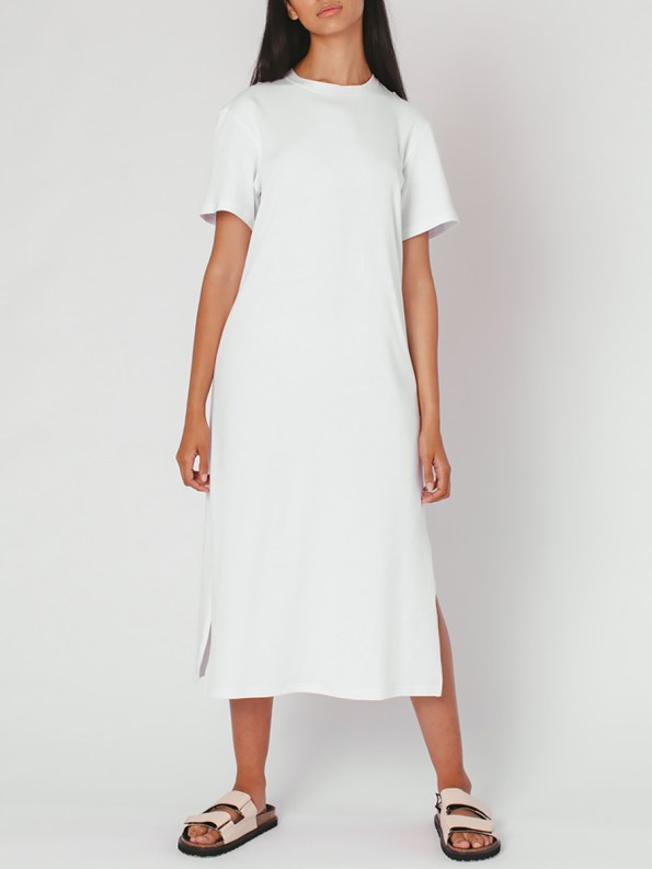 Mareth Colleen T-shirt Dress White Front 2