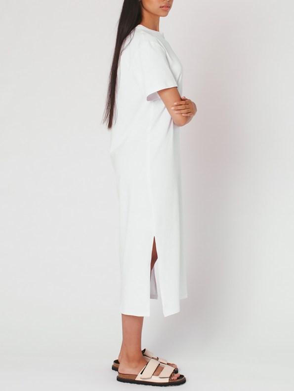 Mareth Colleen T-shirt Dress White Side