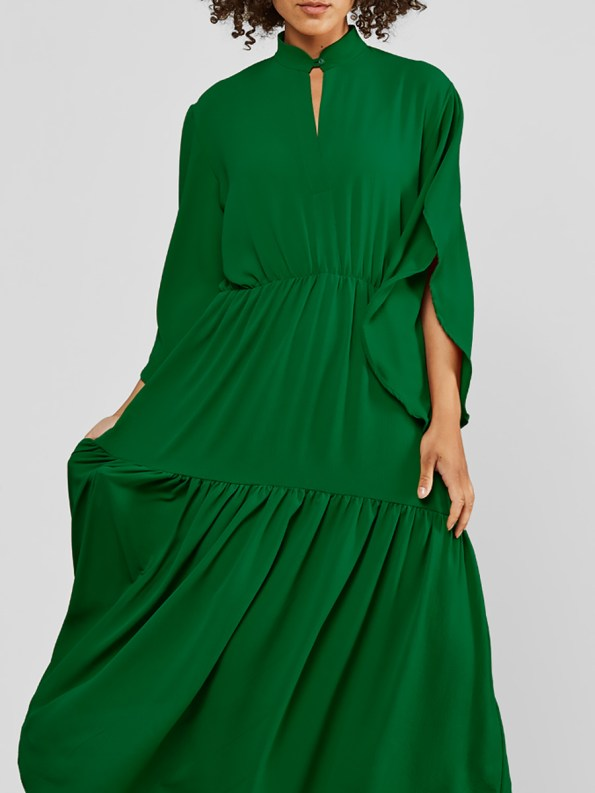 Mareth Colleen Tristan Dress Green Front Crop