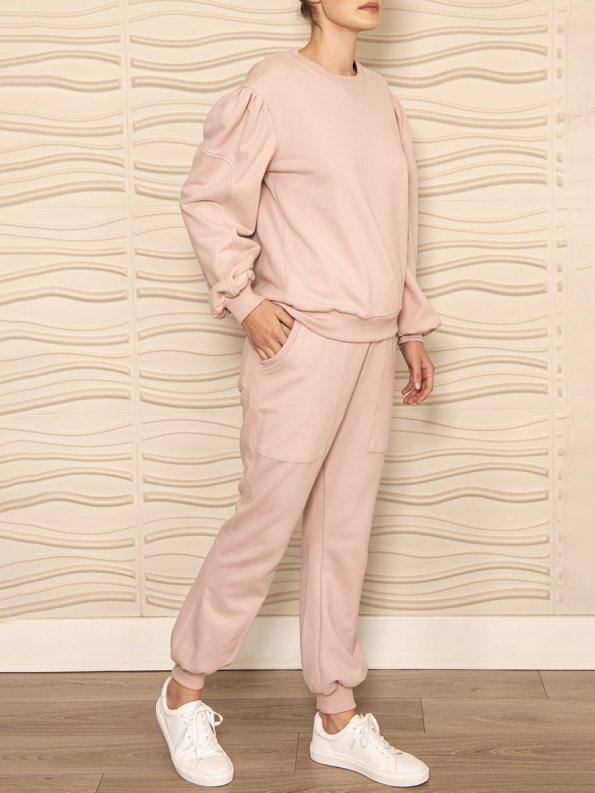 Smudj Alvie Top and Cora Pants Pink Angle