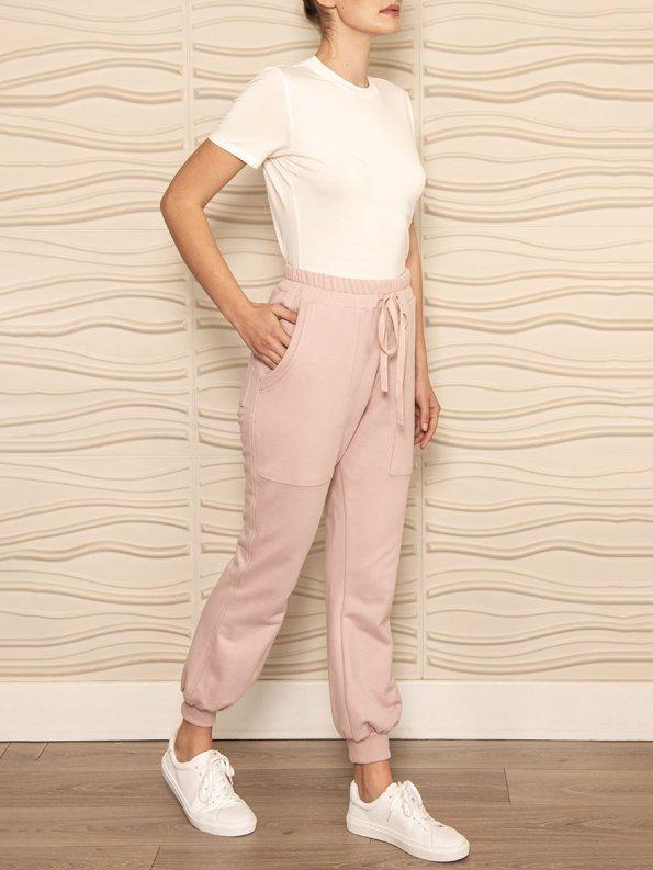 Smudj Cora Pants Blush Pink Angle