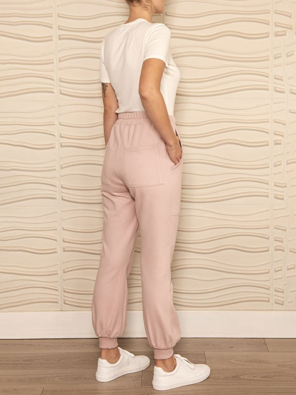 Smudj Cora Pants Blush Pink Back