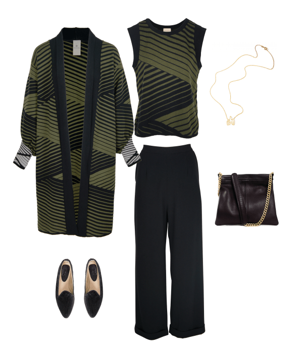 How to style straight-leg black pants