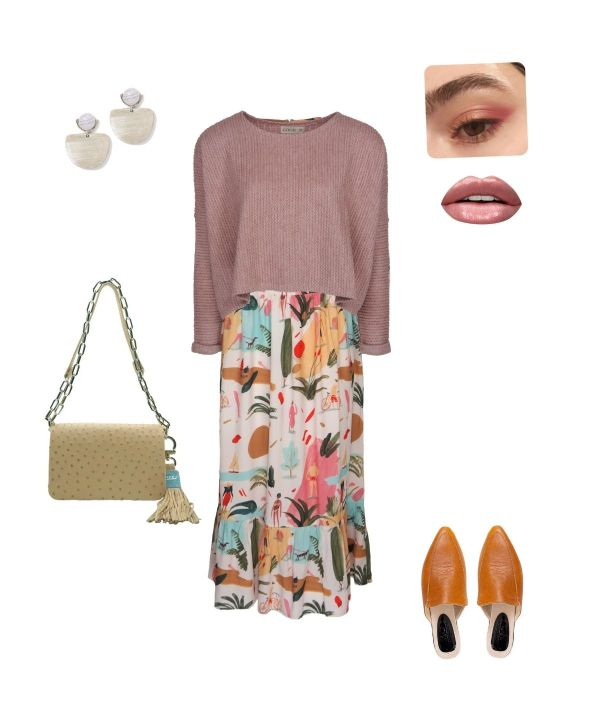 short jersey with maxi dress outfit