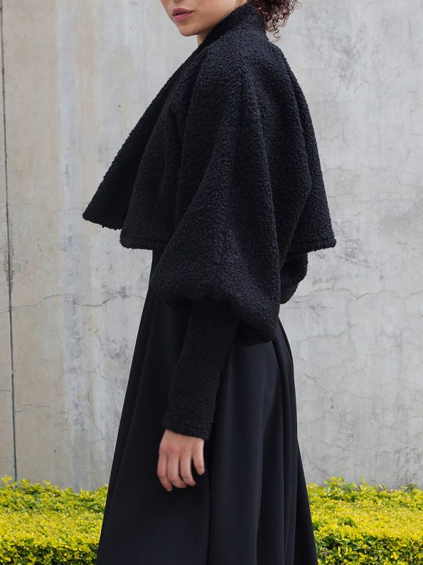 Erre Kingpin Cropped Jacket Black Crop Side