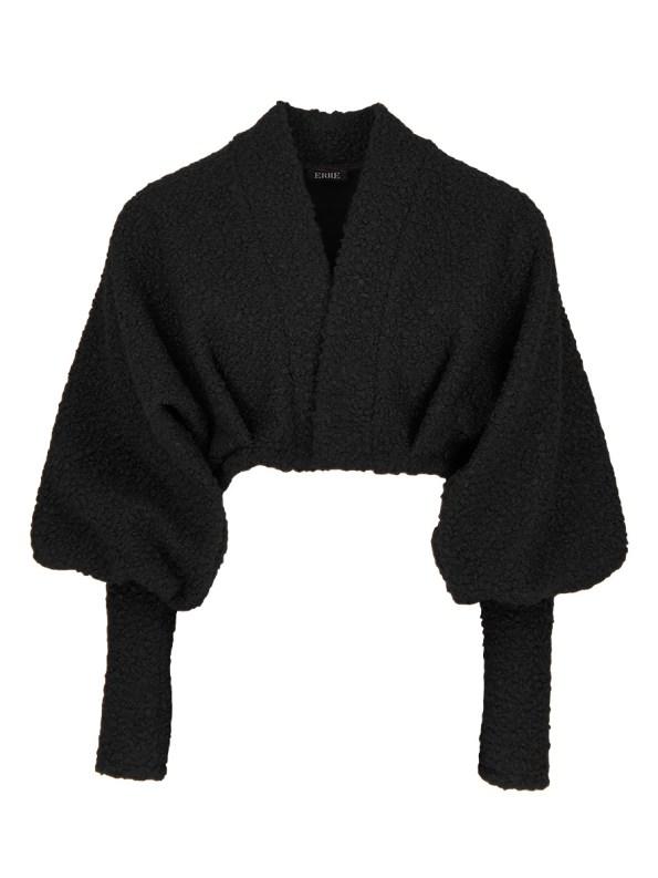 Erre Kingpin Cropped Jacket Black