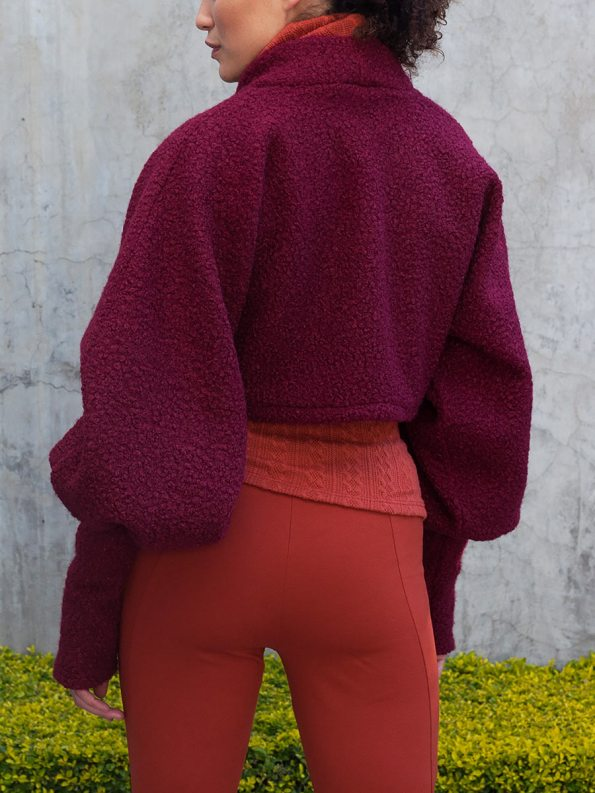 Erre Kingpin Cropped Jacket Cranberry Back