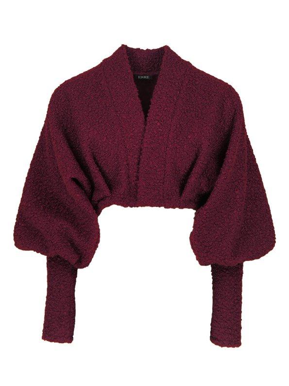 Erre Kingpin Cropped Jacket Cranberry