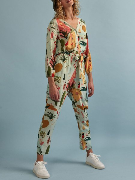 Green printed jumpsuit for ladies South Africa