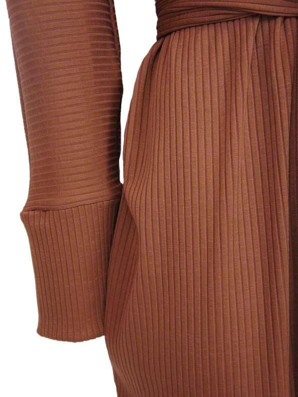 IDV Cocoon Knit Dress Copper Detail