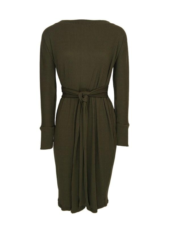 IDV Cocoon Knit Dress Olive